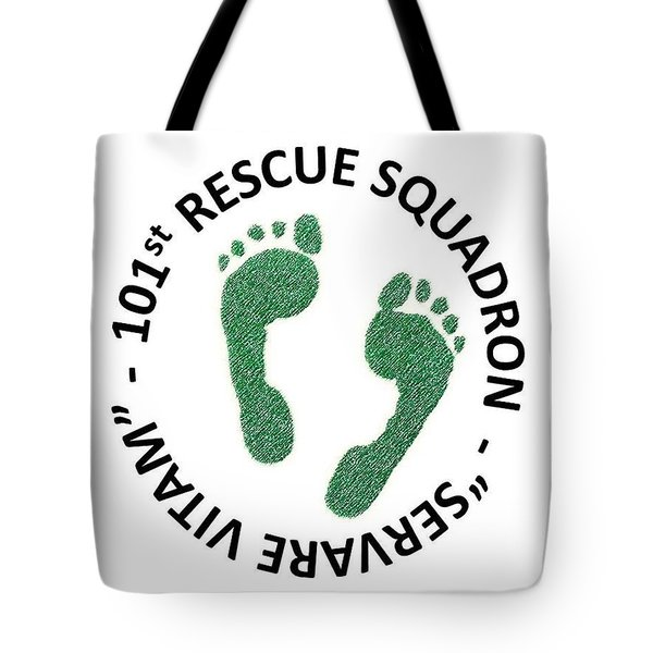 101st Rescue Squadron Tote Bag by Julio Lopez