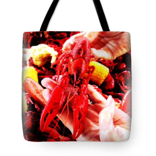 102715 Louisiana Lobster Tote Bag