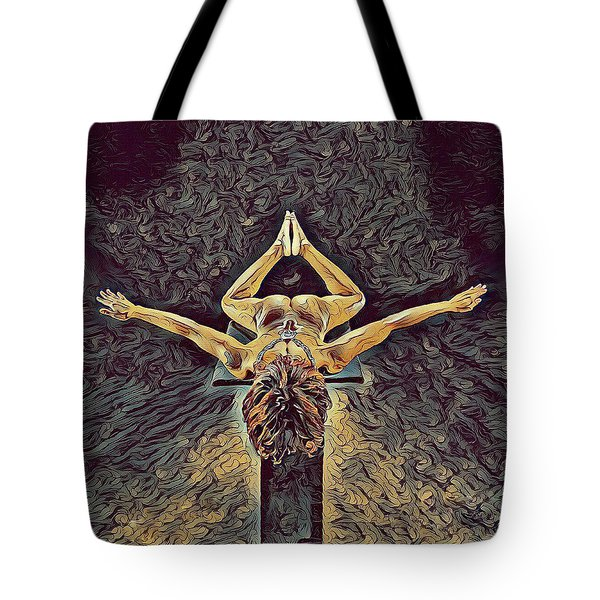 1038s-zac Dancer Flying On Pedestal Nudes In The Style Of Antonio Bravo  Tote Bag