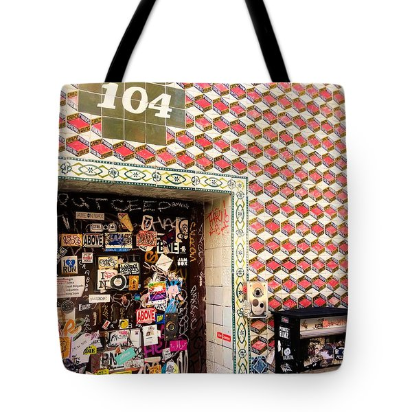 104 Brooklyn New York Door   Tote Bag