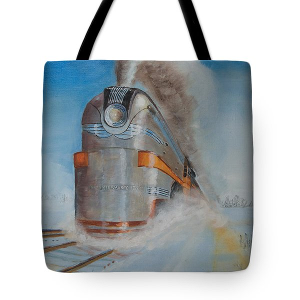 104 Mph In The Snow Tote Bag