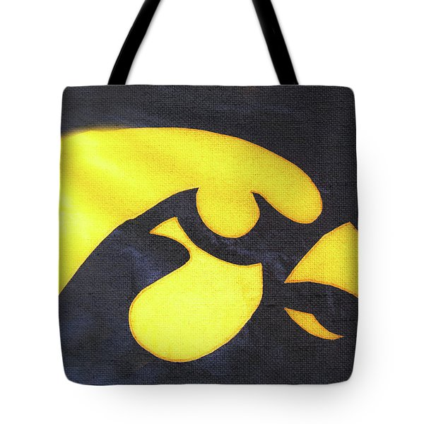 10724  Iowa Hawkeye Tote Bag by Pamela Williams