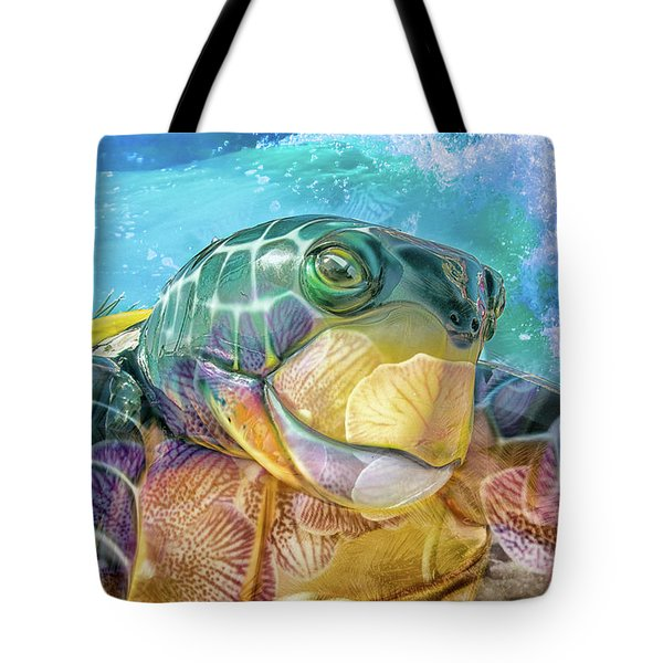 10730 Mr Tortoise Tote Bag by Pamela Williams
