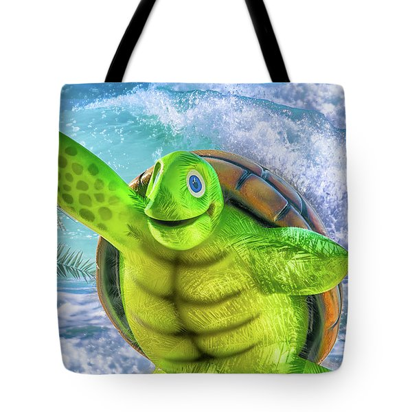 10731 Myrtle The Turtle Tote Bag by Pamela Williams