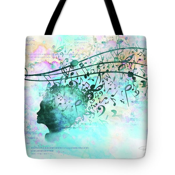 10846 Melodic Dreams Tote Bag by Pamela Williams