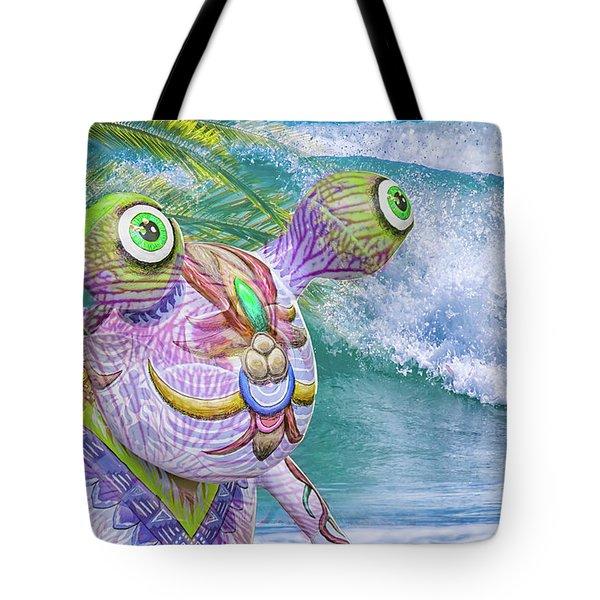 10859 Aliens In Paradise Tote Bag