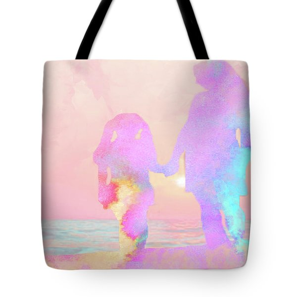 10876 Sunset With Mom Tote Bag by Pamela Williams