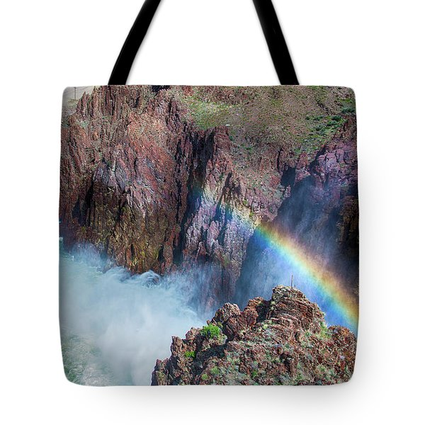 10883 Rainbow Over Owyhee Tote Bag by Pamela Williams