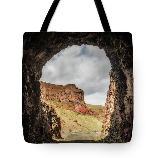 10888 Lake Owyhee Road Tunnel Tote Bag by Pamela Williams