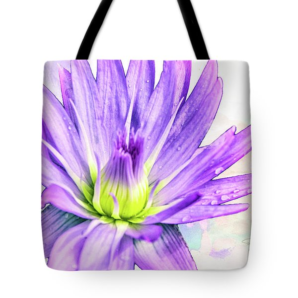 10889 Purple Lily Tote Bag
