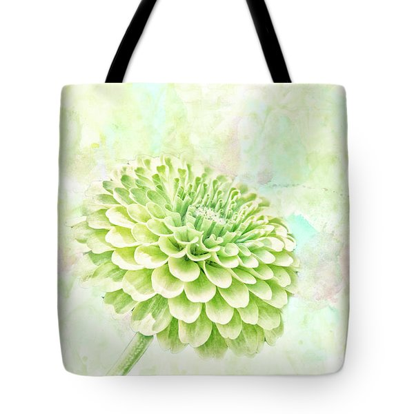 10891 Green Chrysanthemum Tote Bag by Pamela Williams
