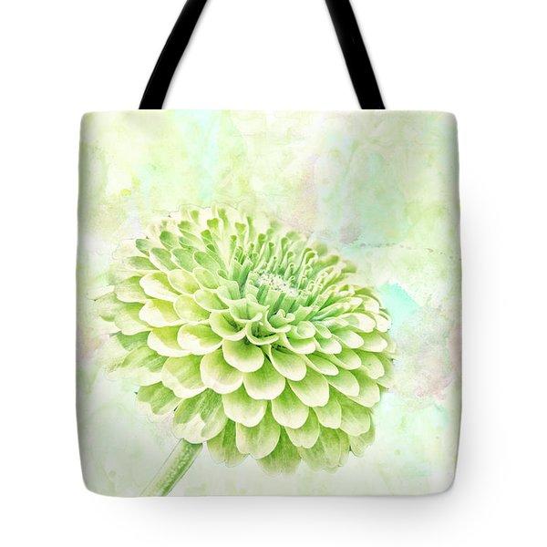 10891 Green Chrysanthemum Tote Bag