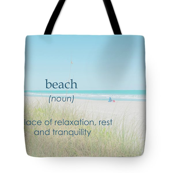 10967 Beach Tranquility Tote Bag