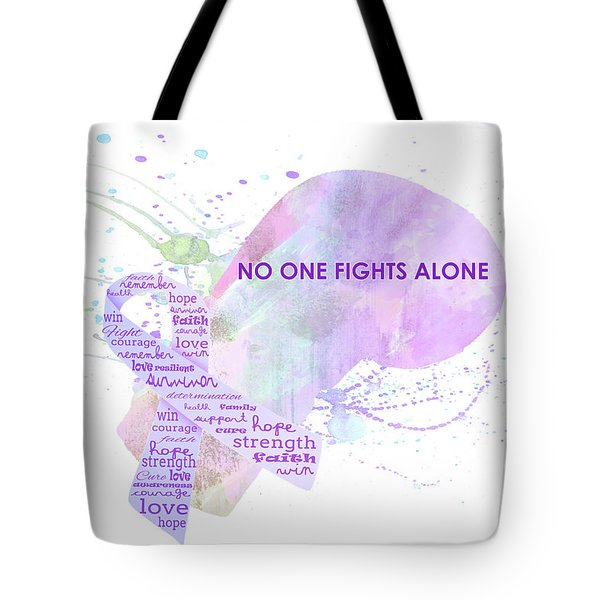 10969 No One Fights Alone Tote Bag
