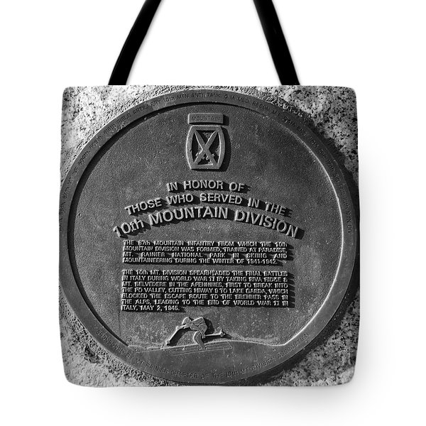 10th Mountain Division Tote Bag by David Lee Thompson