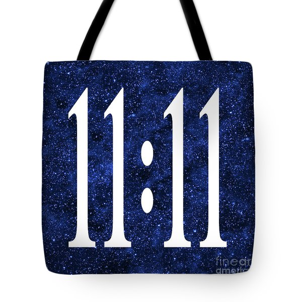 Tote Bag featuring the digital art 11 11 by Ginny Gaura