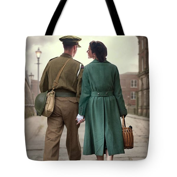 1940s Couple Tote Bag