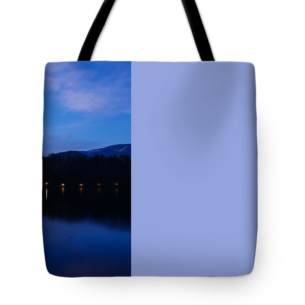 Tote Bag featuring the photograph Dusk Over Lake Bled by Ian Middleton