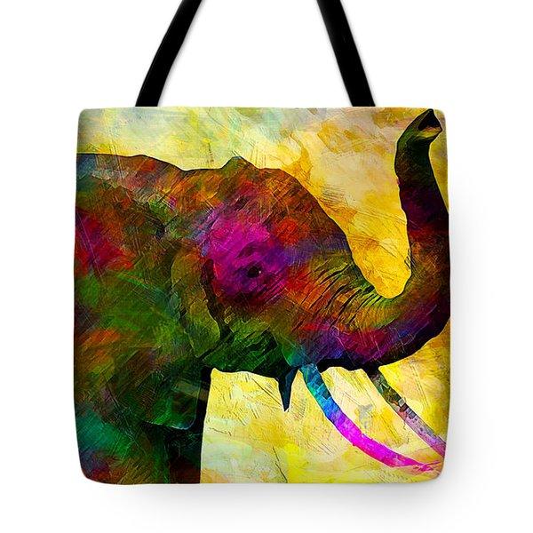 Elephant Tote Bag by Elena Kosvincheva