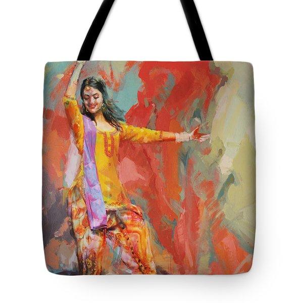 11 Pakistan Folk Punjab Tote Bag