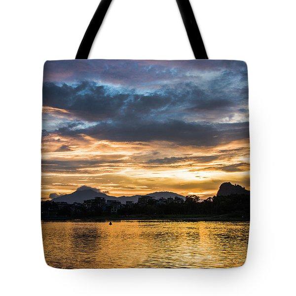 Sunrise Scenery In The Morning Tote Bag