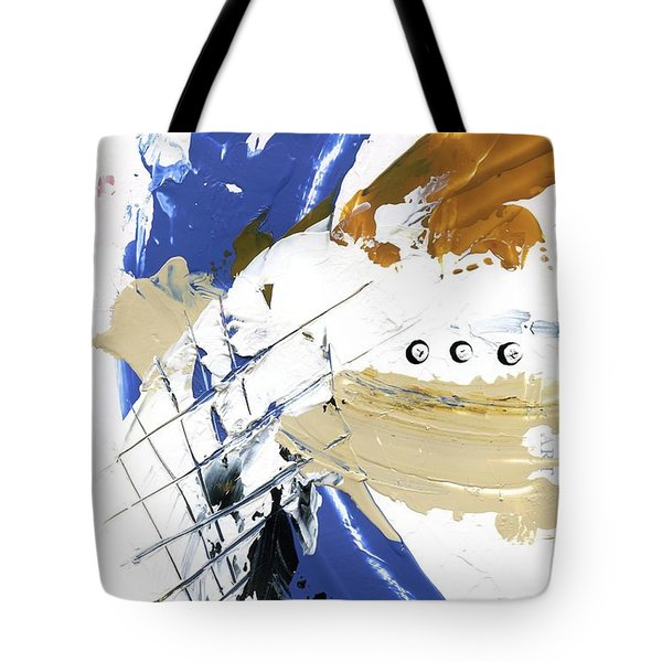 Tote Bag featuring the painting Three Color Palette by Michal Mitak Mahgerefteh