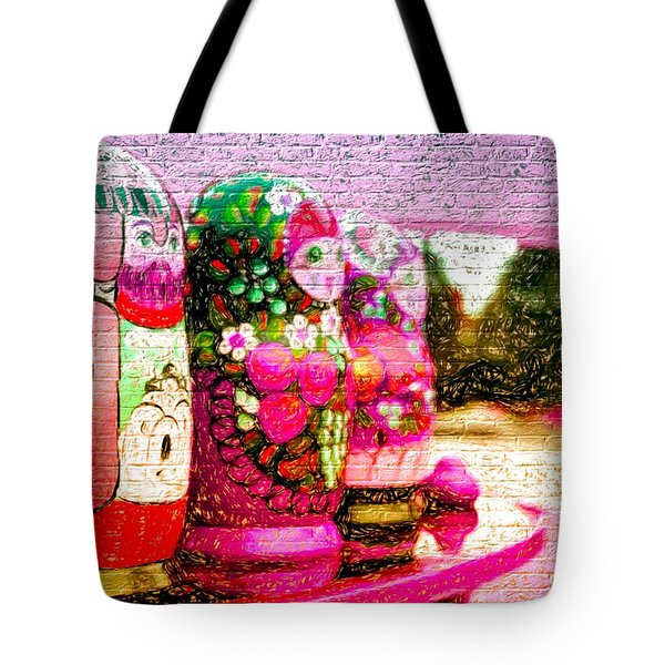 Russian Matrushka Dolls Wall Art Tote Bag