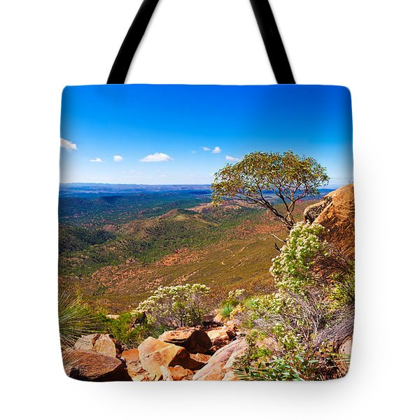 Tote Bag featuring the photograph Wilpena Pound  by Bill  Robinson