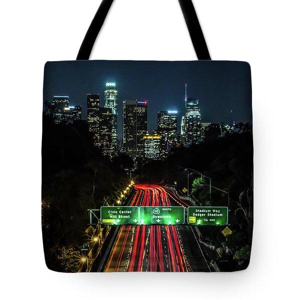 110 Freeway Tote Bag