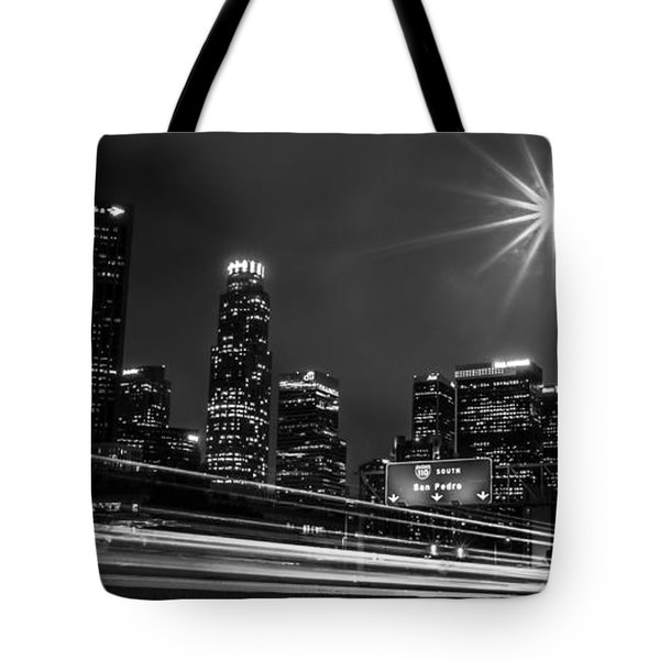 Tote Bag featuring the photograph 110 Freeway Los Angeles by April Reppucci