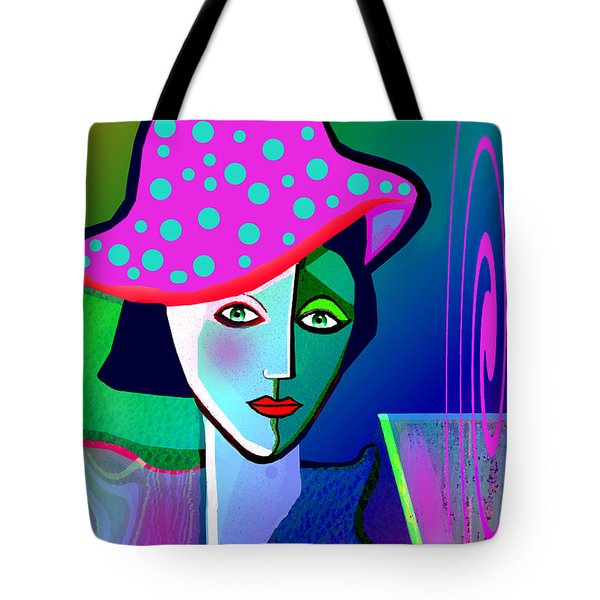 1150 - Woman With A  Pocodot Hat ... Tote Bag