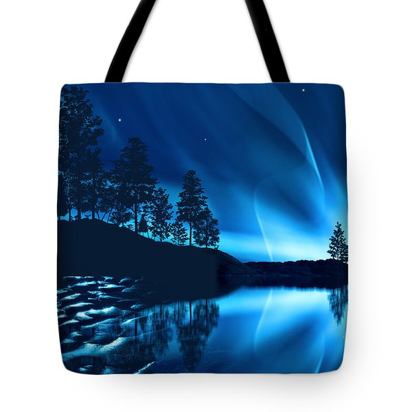 Tote Bag featuring the photograph Aurora Borealis by Setsiri Silapasuwanchai