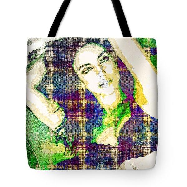 Irina Shayk Tote Bag by Svelby Art