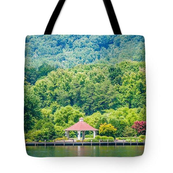 Scenery Around Lake Lure North Carolina Tote Bag