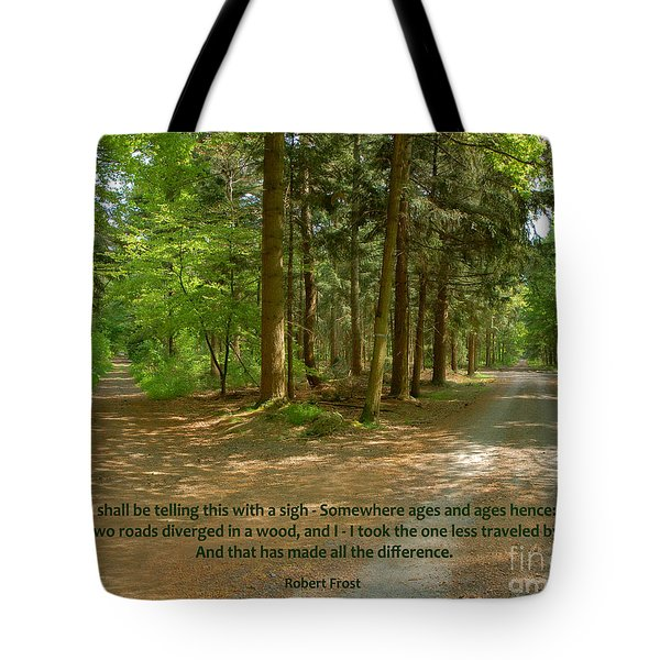 12- The Road Not Taken Tote Bag by Joseph Keane