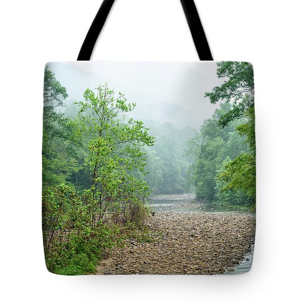 Tote Bag featuring the photograph Williams River Summer Mist by Thomas R Fletcher