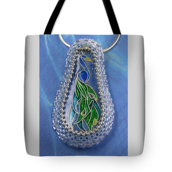 1226 Peacock Tote Bag