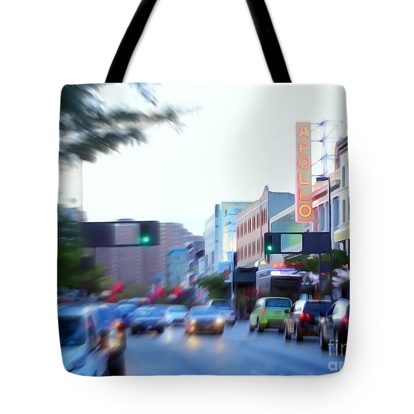 125th Street Harlem Nyc Tote Bag by Ed Weidman