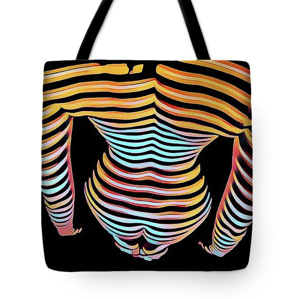1262s-mak Woman's Strong Shoulders Back Hips Rendered In Composition Style Tote Bag