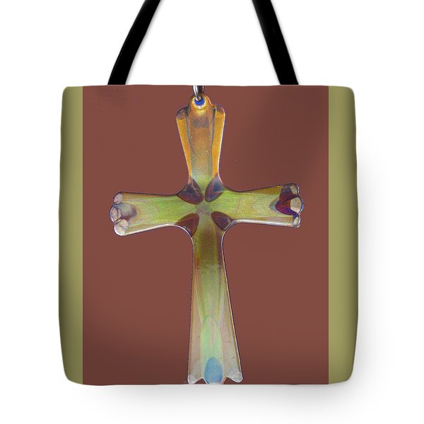 1282a Golden Cross Tote Bag