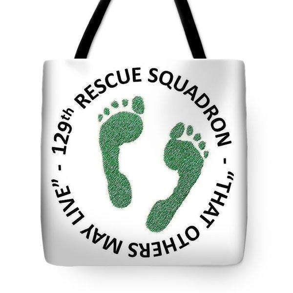 129th Rescue Squadron Tote Bag