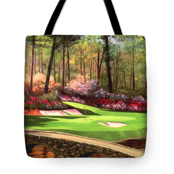 12th Hole At Augusta Ver Tote Bag by Tim Gilliland
