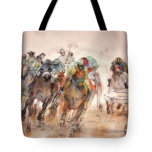Tote Bag featuring the painting American  Pharaoh  Album  by Debbi Saccomanno Chan
