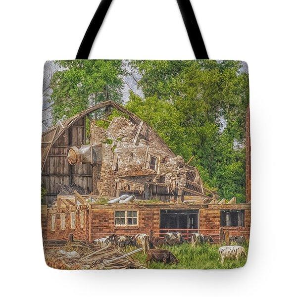 Barn Tote Bag by Dan Traun