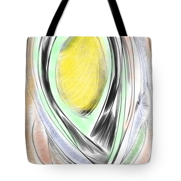 Digital Abstract  Tote Bag