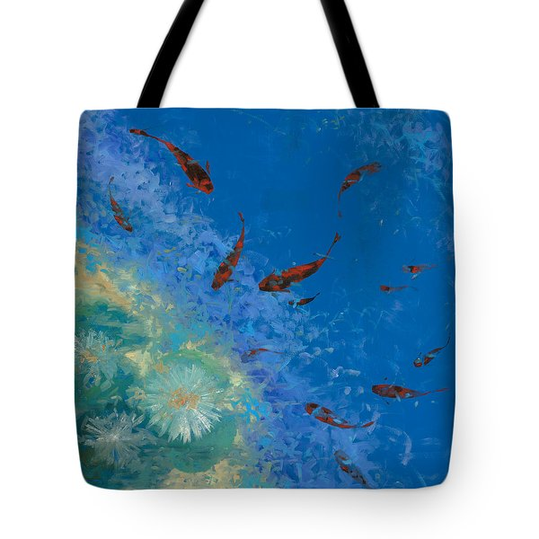 13 Pesciolini Rossi Tote Bag by Guido Borelli