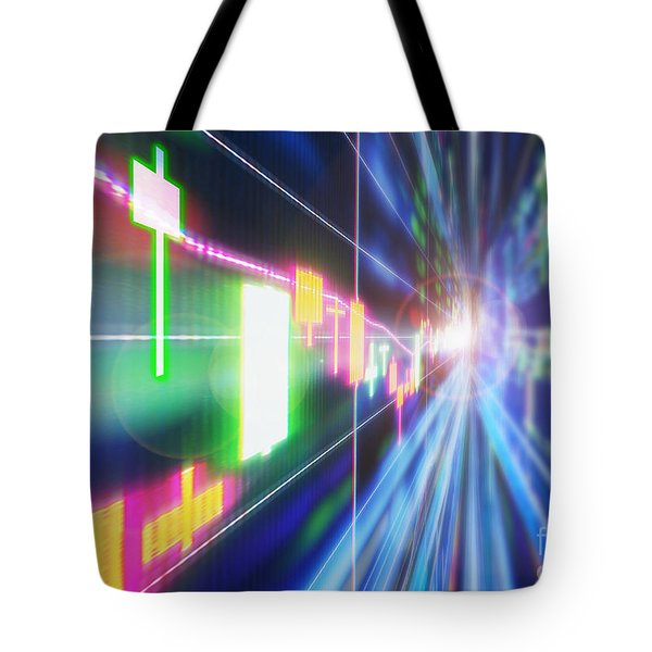 Tote Bag featuring the photograph Stock Market Concept by Setsiri Silapasuwanchai