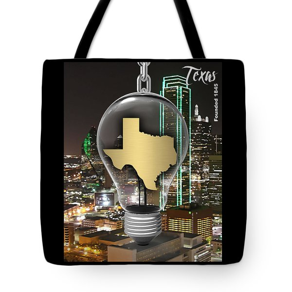 Texas State Map Collection Tote Bag by Marvin Blaine