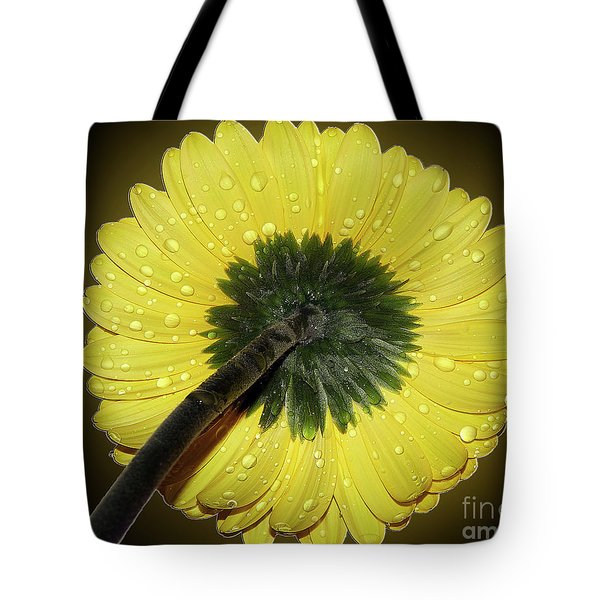 Tote Bag featuring the photograph Yellow Gerber by Elvira Ladocki
