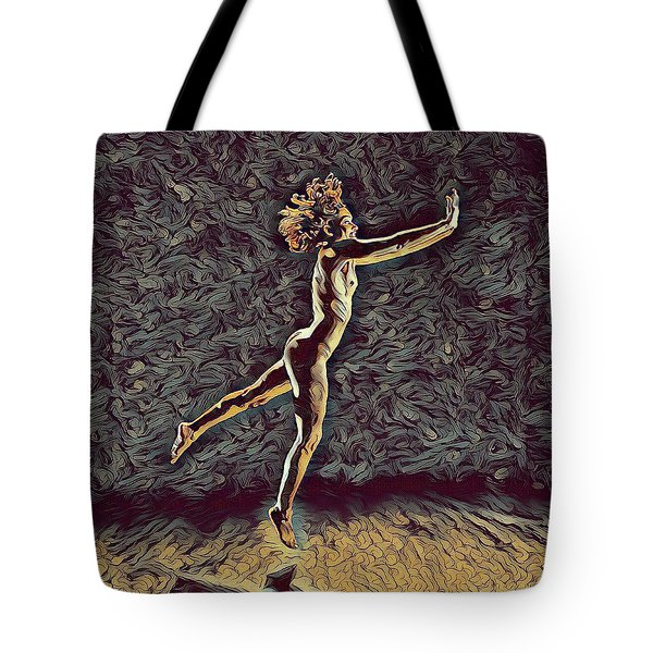 1302s-zak Naked Dancers Leap Nudes In The Style Of Antonio Bravo Tote Bag by Chris Maher